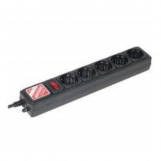 Мережевий фільтр LogicPower LP-X5 3 м 5 розеток Black (LP1946)