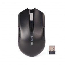 Мишка бездротова, A4Tech (G3-200N (Black), стандартна, V-Track, оптична 1000dpi, 3кн+1кол, 1xAA, радіо, USB-нано ресівер, чорний