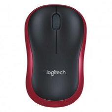 Мишка бездротова Logitech M185 (910-002240) Red/Black