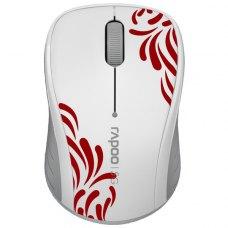 Мишка бездротова Rapoo 3100p White/Red
