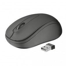 Мишка бездротова, Trust Ziva Black (21509), ноутбучна, оптична 1200dpi, 3кн+1кол, 2xAAA, USB-нано, чорний