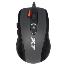 Мишка дротова ігрова, A4Tech (X-710BK USB), стандартна, Agilent, лазерна 400-2000dpi, 6кн+1кол, кнопка 3xFire, Oscar, Black*