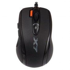 Мишка дротова ігрова, A4Tech (X-710 MK USB (Black), стандартна, Agilent, лазерна 400-2000dpi, 6кн+1кол, кнопка 3xFire, Oscar, Black*