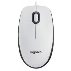 Мишка дротова Logitech M100 (910-001605) White
