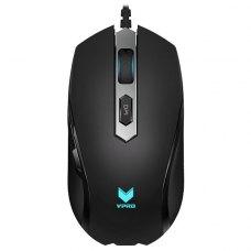 Мишка дротова, Rapoo V210 Black, оптична, ігрова, LED підсвітка, Black
