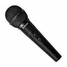 Мікрофон дротовий караоке, Defender MIC-130 Black (64131), адаптер 6,3 мм jack/3,5 мм jack, опір 500Ом, діапаз.50-14 000Гц, чутл.73дБ, шнур 5м, чорний