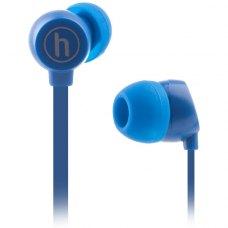 Навушники дротові, вакуумні, HAPOLLO EP-1010 Navy, стерео, шнур1.2м, 3,5мм mini jack, опір16 Ом, чутливість 116 дБ, синій
