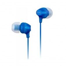 Навушники дротові, вакуумні, Sony MDR-EX15LP Blue (MDREX15LPLI.AE), стерео, шнур1.2м, 3,5мм mini jack, опір16 Ом, чутливість 100 дБ, синій