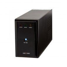 ПБЖ, 1250VA, LogicPower LPM-1250VA (3175), line interractive, 875вт, батарея 2x 12V 7,5Ah, чорний