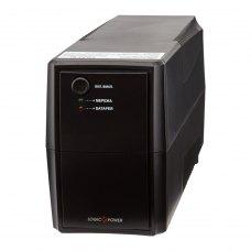 ПБЖ, 625VA, LogicPower LPM-625VA-P (3336), line interractive, 437вт, батарея 12V/7,5Ah, чорний, пластик