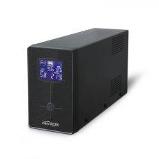 ПБЖ, 850VA, EnerGenie (EG-UPS-032) із стабілізатором змінної напруги, AVR, 510вт, батарея 12В/8Ач, чорний, 340x95x165мм