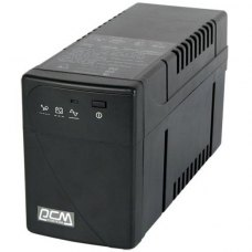 ПБЖ, Powercom (BNT-600A Schuko), line interractive, класичний, 600В*А, 360Вт, 155 до 275В*апроксимована синусоїда, 5мін, 2/0, 2-4, 135х97х320, 6.5кг
