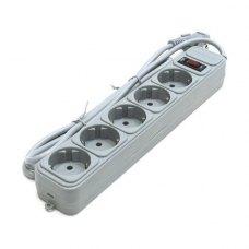 Мережевий фільтр, 10м, 5 розеток, Gembird (SPG5-G-10MG), сірий