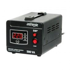 Стабілізатор 500Вт, EnerGenie (EG-AVR-D500-01), металевий. корпус, чорний, 2,6кг