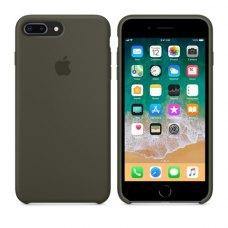 Чохол Silicon Case Apple iPhone 7/8 Plus Dark Olive ORIGINAL
