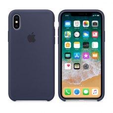 Чохол Silicon Case Apple iPhone X Midnight Blue ORIGINAL