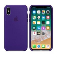 Чохол Silicon Case Apple iPhone X Ultra Violet ORIGINAL