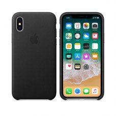 Чохол Leather Case Apple iPhone X Black ORIGINAL