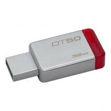 USB флеш 32Gb Kingston DT50 Silver (DT50/32GB) метал сріблястий R 30МБ/с / W 5МБ/с USB 3.1