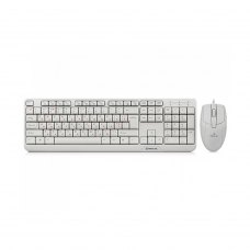 Комплект клавиатура + мышка REAL-EL Standard 505 Kit USB Белый (EL123100017)
