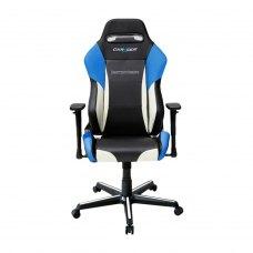 Крісло для геймерів DXRACER DRIFTING OH/DM61/NWB (чорне/біло-голубі вставки)PU шкіра, метал основа