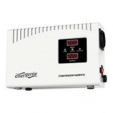 Стабілізатор 600Вт, EnerGenie (EG-AVR-DW1000-01), металевий корпус, білий, 2,9кг