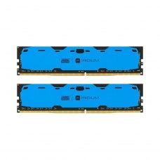 Модуль пам'яті 16Gb DDR4 2400M Hz Iridium Blue (2x8GB) (IR-B2400D464L15S/16GDC)