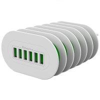 Мережевий зарядний пристрій Colorway 6X USB 7А (CW-CHS07AW)
