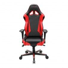 Крісло для геймерів DXRACER RACING OH/RV001/NR (чорне/червоні вставки) PU шкіра, AL основа