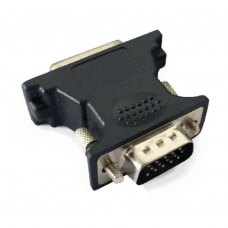 Адаптер Cablexpert  DVI-A штекер 24-pin на розєм VGA 15-pin (A-VGAM-DVIF-01)