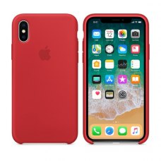 Чохол Silicon Case Apple iPhone X Red ORIGINAL