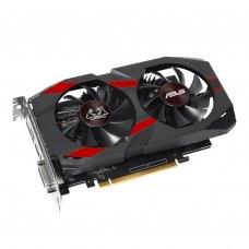 Відеокарта ASUS GeForce GTX1050 Ti 4096Mb CERBERUS OC (CERBERUS-GTX1050TI-O4G) GDDR 5, 128 Bit, 1366 MHz, 7008 MHz, DisplayPort, DVI, HDMI, кулер, рад