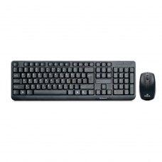 Комплект клавиатура + мышка REAL-EL Standard 555 Kit Wireless USB черный