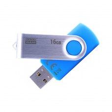 USB флеш, 16 GB, Goodram Twister Blue (UTS2-0160B0R11)