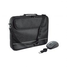 Сумка для ноутбука 15.6, TRUST Mouse with Carry Bag Black