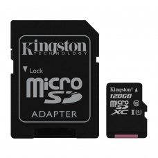 MicroSDXC card 128G C10 UHS-I KINGSTON Canvas 80MB/s + adapter