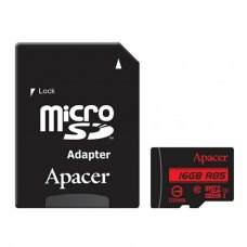 microSDHC card 16Gb Apacer class10 UHS-I Apacer 85Mb/s + adapter (AP16GMCSH10U5-R)