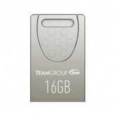 USB флеш 16Gb Team C156 Silver (TC15616GS01) USB 2.0 метал срібло вушко для кріплення до брелока Пило- волого- ударостійка