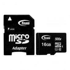 microSDHC карта 16Gb Team class10 з SD адаптером UHS-I (TUSDH16GCL10U03)