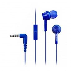 Навушники дротові з мікрофоном, Panasonic RP-TCM115GC-A Blue