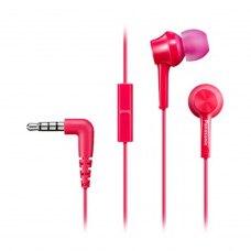Навушники дротові з мікрофоном, Panasonic RP-TCM115GC-P Pink