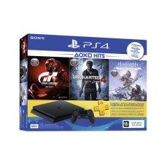 Ігрова консоль SONY PlayStation 4 (PS4) Slim 500 Gb Black (Horizon Zero Dawn (Complete Edition), Uncharted 4, Gran Turismo Sport, Wargaming)