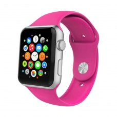 Ремінець Silicone Watch band for Apple Watch 42mm Barbie Pink