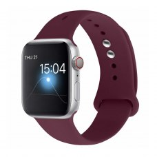 Ремінець Silicone Watch band for Apple Watch 42mm Wine Red