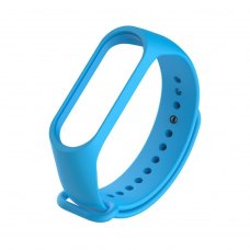 Браслет для Xiaomi Mi Band 4 / 3 (silicone) Light Blue