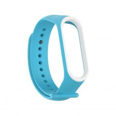 Браслет для Xiaomi Mi Band 4 / 3 (2-colors silicone strap) Blue/White