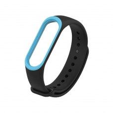 Браслет для Xiaomi Mi Band 3 (2-colors silicone strap) Black/Blue