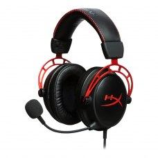 Навушники Kingston HyperX Cloud Alpha (HX-HSCA-RD/EE) геймерські (ігрові), гарнітура, дротове, повнорозмірні, дуга над головою, штекер 3.5 мм, 1, 2, 1