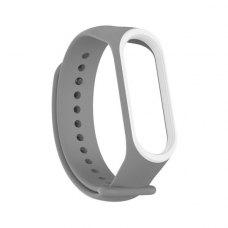 Браслет для Xiaomi Mi Band 3 (2-colors silicone strap) Grey/White