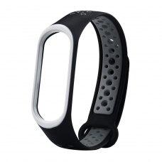 Браслет для Xiaomi Mi Band 3 (Sport silicone) Black/Grey